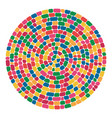 abstract colorful mosaic round pattern vector image vector image