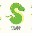 alphabet letter s and snake vector image