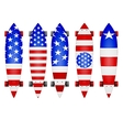 american flag longboards vector image vector image