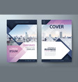annual report brochure flyer book cover template vector image