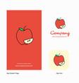 apple company logo app icon and splash page vector image