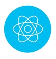 Atom line icon vector image vector image