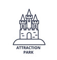 attraction park line icon concept attraction park vector image vector image