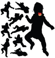 baby black silhouette vector image vector image