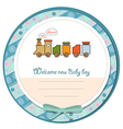 baby shower card with toy train vector image vector image