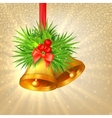 Background with Christmas bells vector image vector image