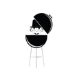 barbecue with humain head vector image vector image