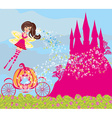 beautiful fairytale pink castle vector image vector image