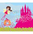 Beautiful fairytale pink castle