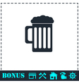 Beer icon flat