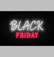 black friday sale friday neon sign on brick vector image vector image