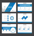 Blue presentation templates Infographic element vector image
