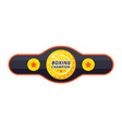 boxing championship belt vector image vector image