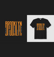 brooklyn streets stylish t-shirt and apparel vector image