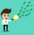 Business man idea money2 vector image vector image