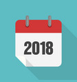 calendar 2017 icon flat design vector image vector image