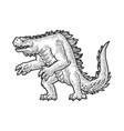 cartoon dinosaur monster sketch vector image