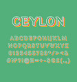 ceylon vintage 3d alphabet set vector image