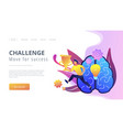 challenge and move for success concept landing vector image vector image