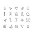 collectibles shop line icons signs set vector image