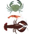 Crustaceans vector image