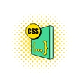 CSS file icon in comics style vector image vector image
