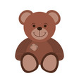 cute teddy cartoon vector image