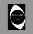 design headline cover black vector image