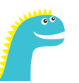dinosaur face cute cartoon funny dino baby vector image