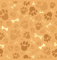 dog theme seamless background 1 vector image