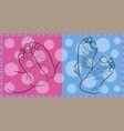 feet newborn vector image
