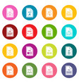 file format icons many colors set vector image vector image