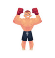 flat muscular handsome boxer man vector image vector image