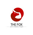 fox logo design icon animal and logo banner for vector image
