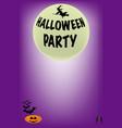 full moon halloween poster vector image vector image