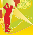 Golf Player Silhouette on the Abstract Background vector image