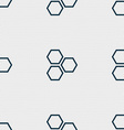 Honeycomb icon sign Seamless pattern with vector image vector image