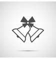 Icon Christmas bell for holiday season vector image