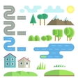 Landscape flat elements vector image