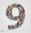 large group of people in number 9 nine form vector image vector image
