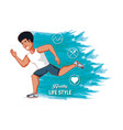 man athlete running healthy lifestyle vector image vector image