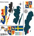 Map of Kalmar vector image vector image
