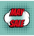 May sale comic book bubble text retro style vector image vector image