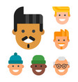 men head portrait different nationality friendship vector image vector image