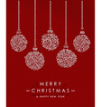 merry christmas happy new year outline bauble deco