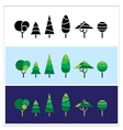 mini trees vector image vector image