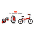 mono wheel isolated roller scooter balance bikes vector image vector image