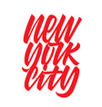 new york city hand drawn vector image