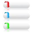 oval white buttons colored web icons with vector image