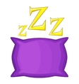 Pillow icon cartoon style vector image vector image